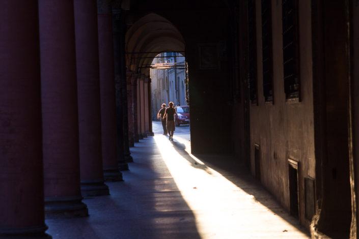 Sunshine under the porticos