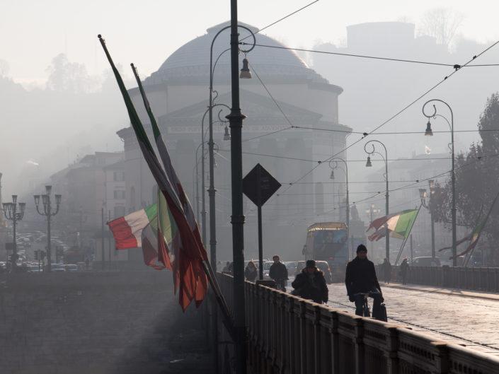 Ponte Vittorio and Grand Madre di Dio, Turin