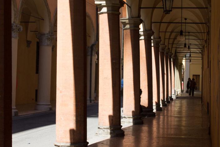 Under the porticos in Bologna
