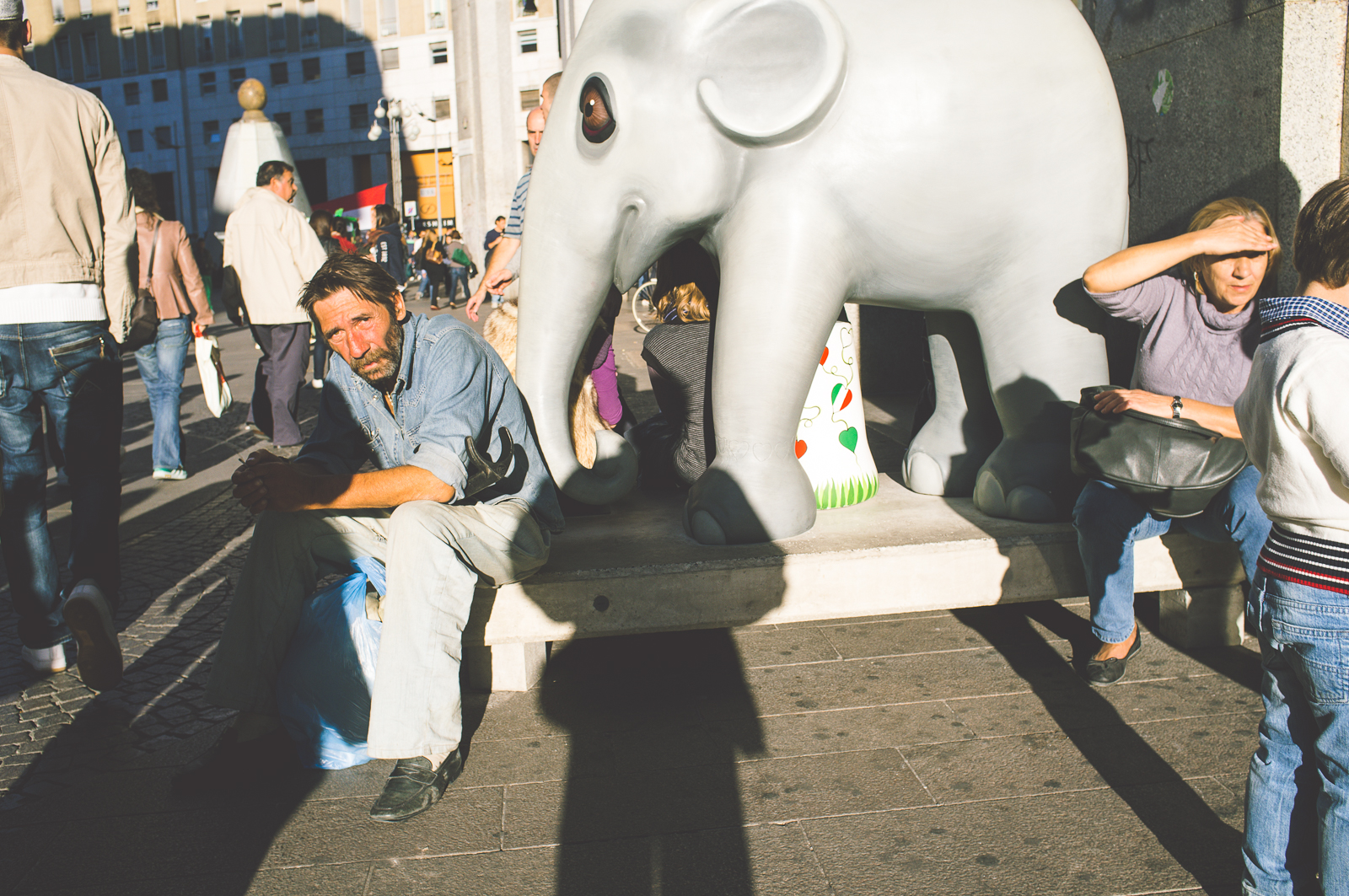 The elephant in the square (Milan)