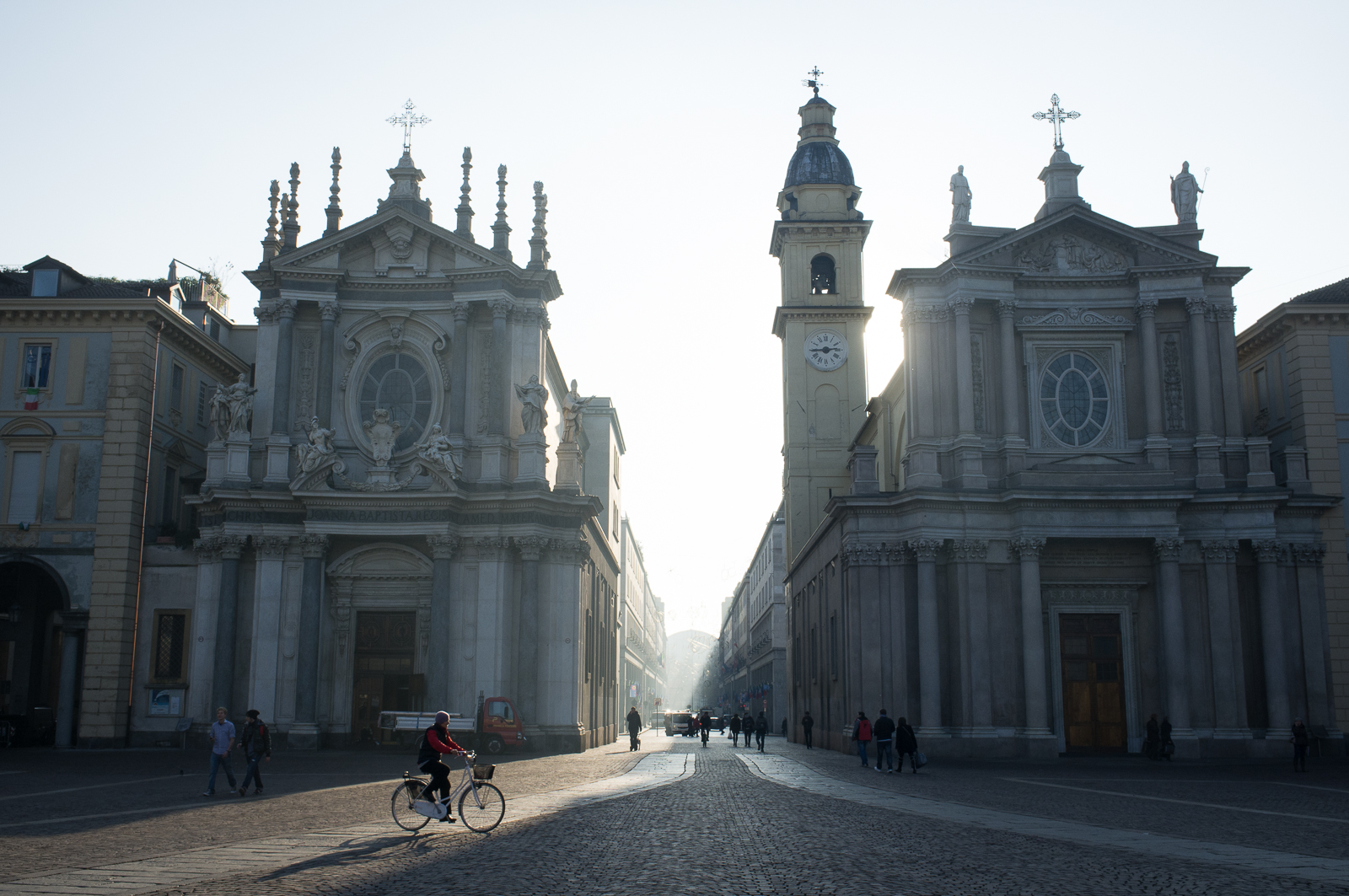 The twin churches San Carlo and Santa Cristina, Piazza San Carlo, Turin
