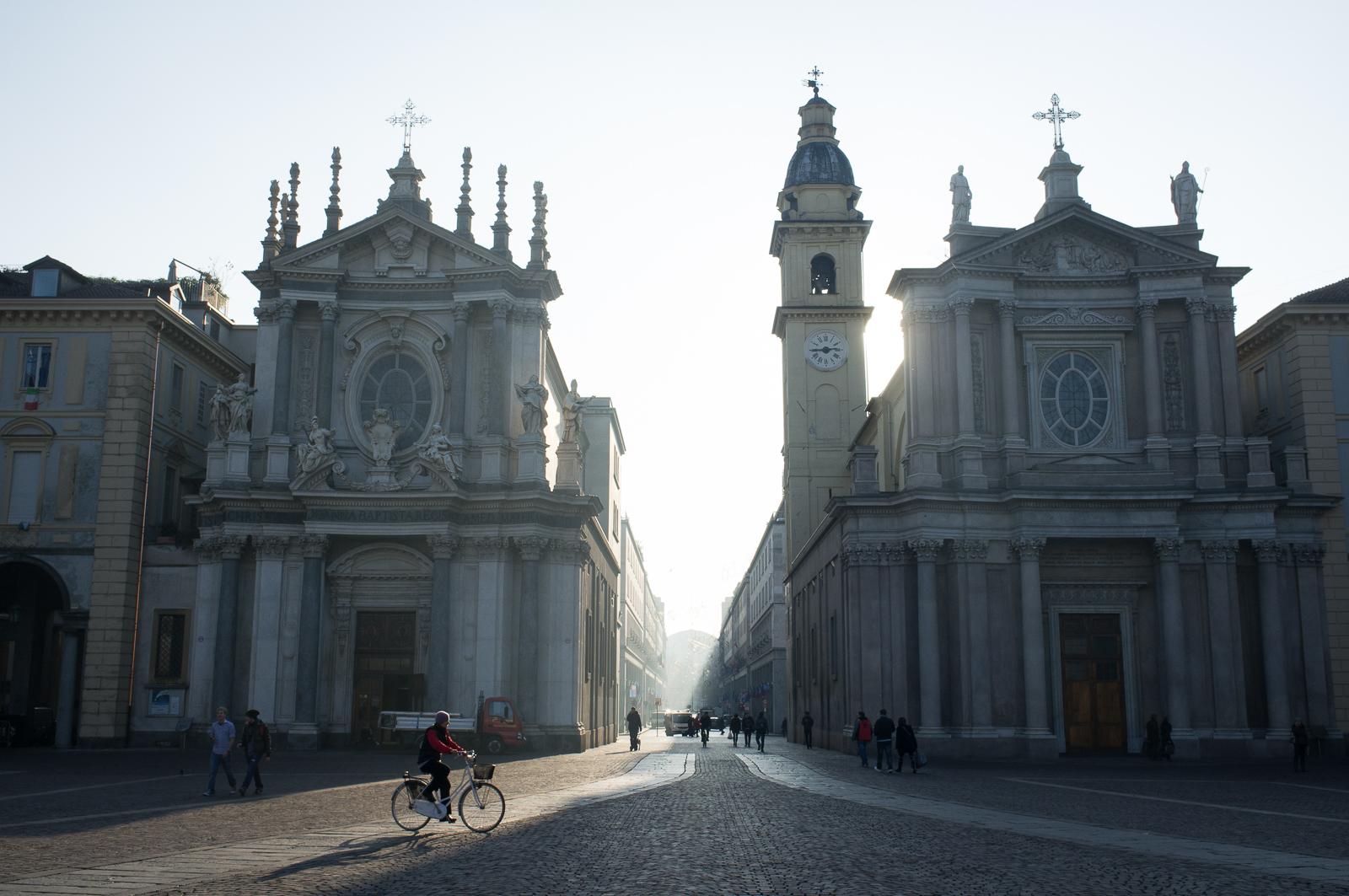 The twin churches San Carlo and Santa Cristina, Piazza San Carlo, Turin
