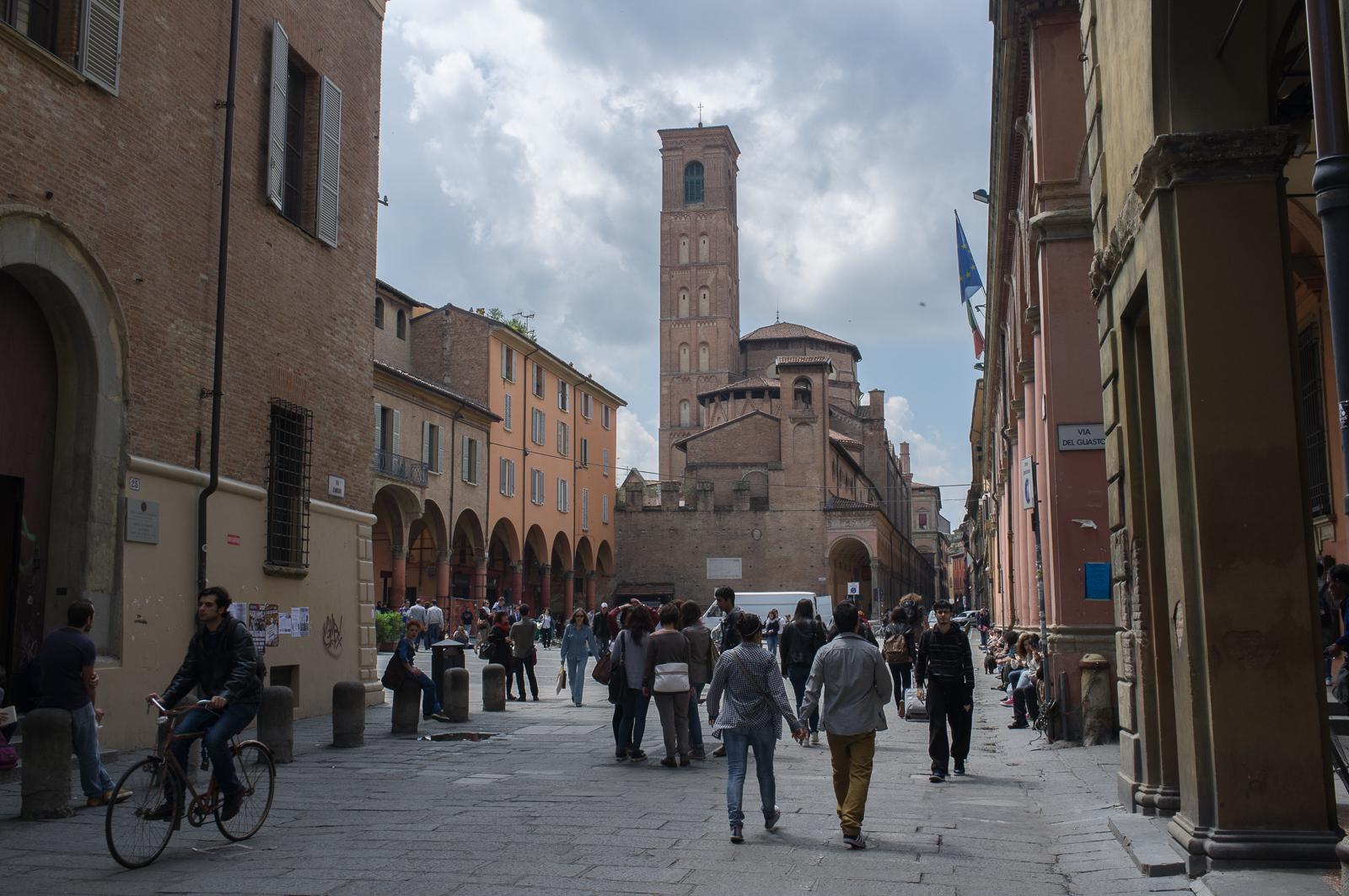Via Zamboni, University area, Bologna