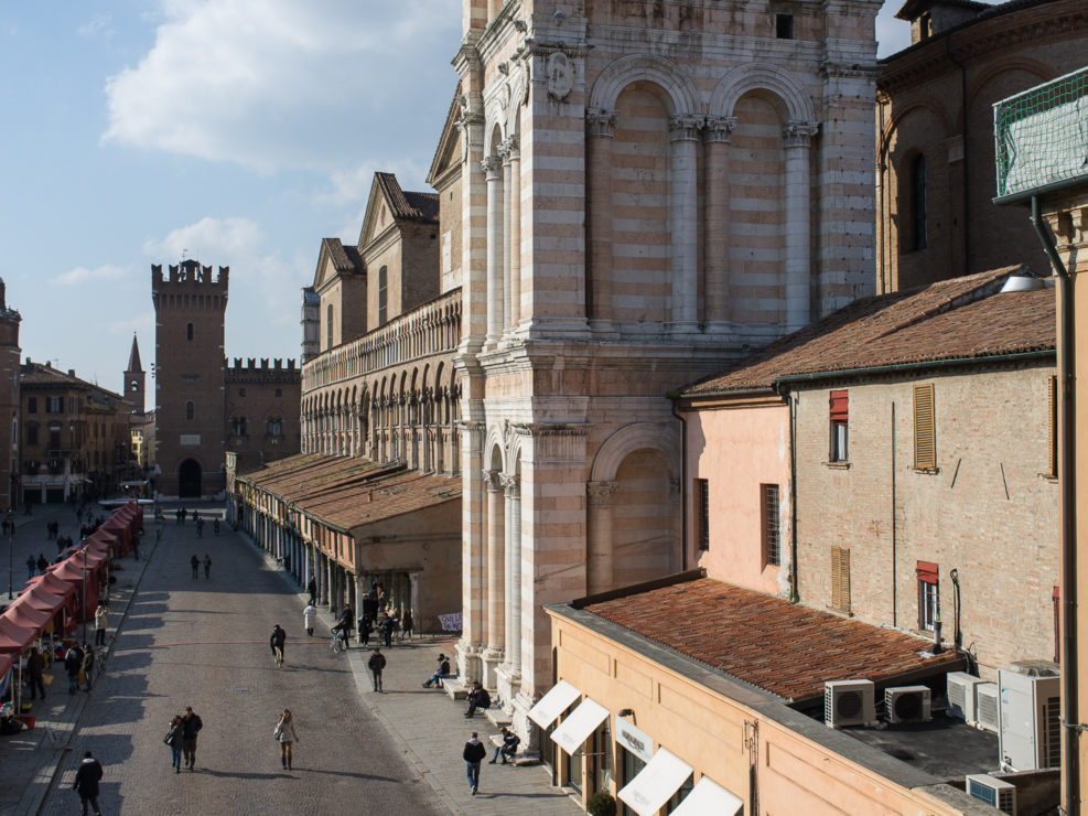 Palazzo Communale and a part of the cathedral bell tower (right)