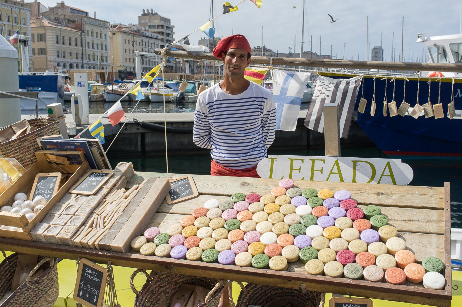Lefada selling Marseille soap