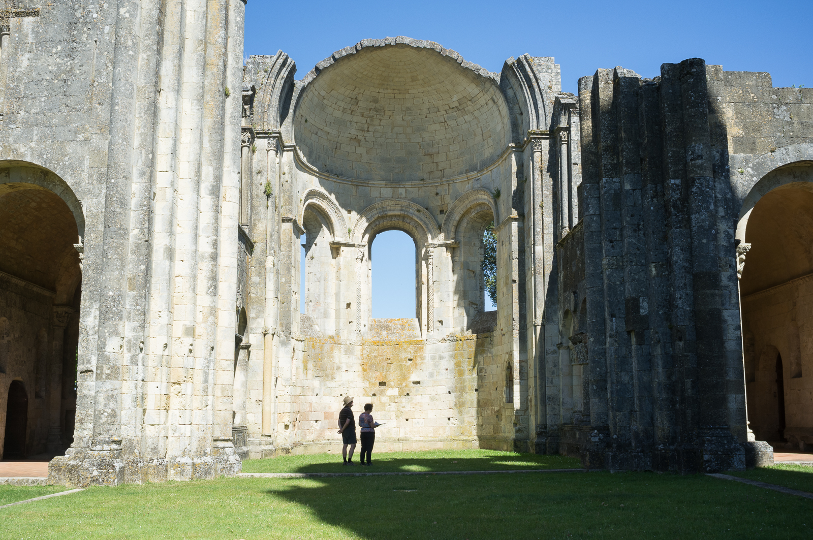 The view from the nave at Abbey of La Sauve-Majeure, Sauve