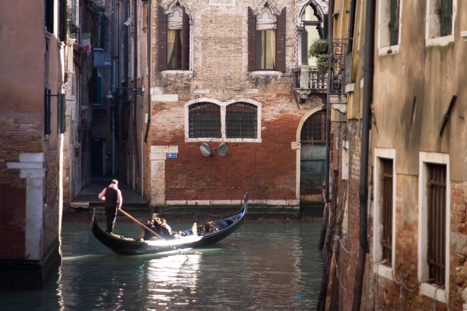 The gondola glides...