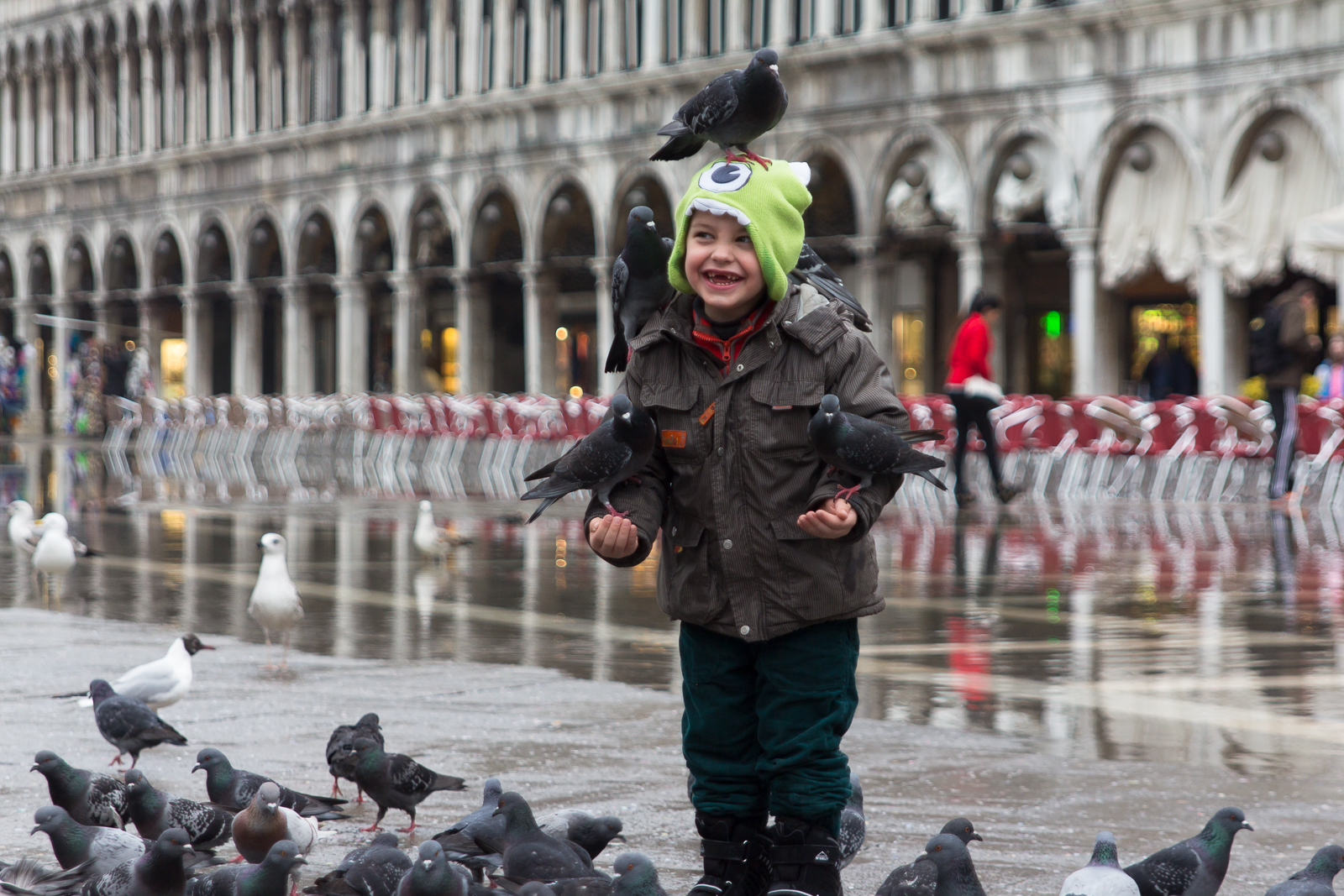 All smiles on Piazza San Marco
