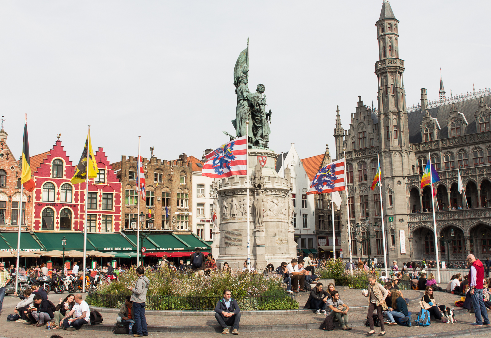 The Markt - the main square in Bruges