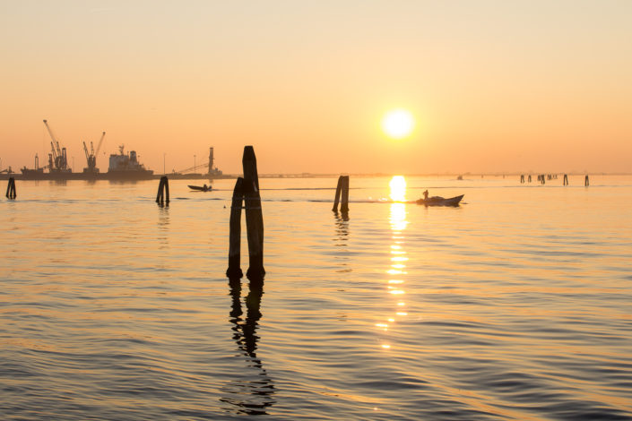 From Venice to Chioggia in the Lagoon