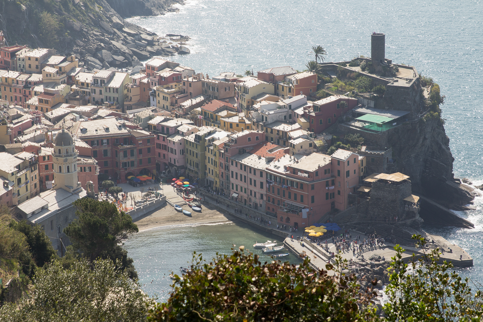 Vernazza as seen from the hiking trail