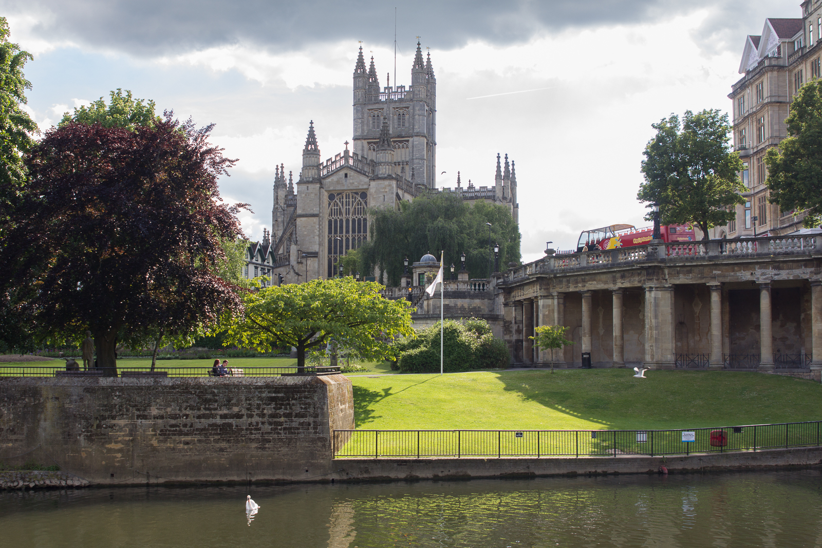 Bath Abbey across the River Avon