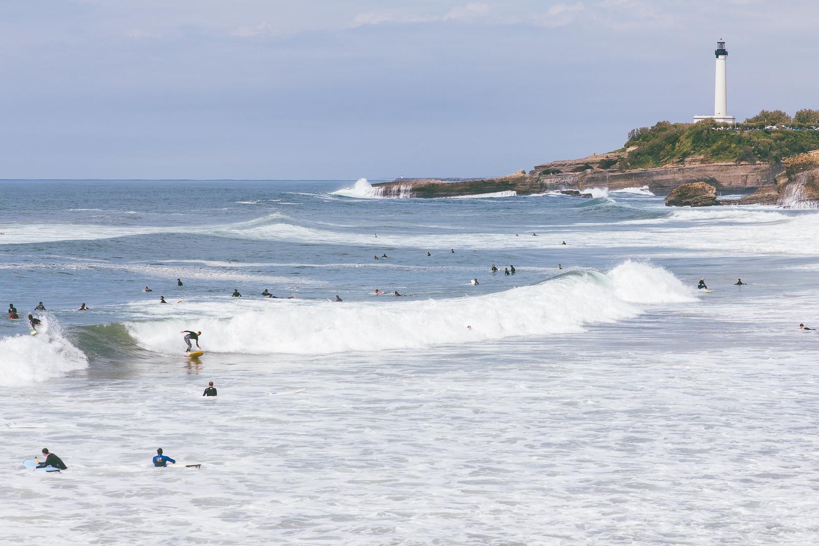 Surfers in Biarritz