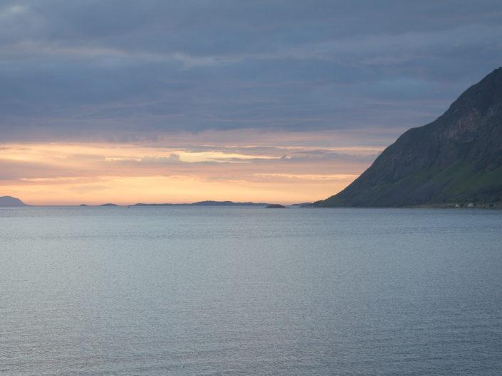 Indre Elgsnes near Harstad (Norway) at midnight