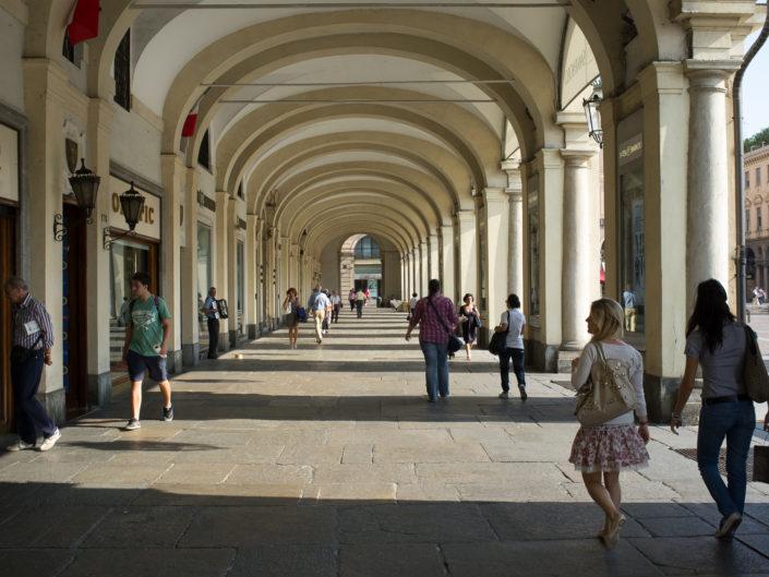 Under the porticos (Piazza San Carlo)