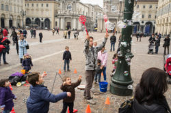 The Bubble Master on Piazza San Carlo