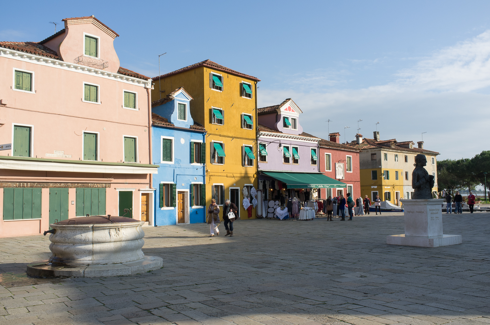 Characteristic houses at Piazza Galuppi