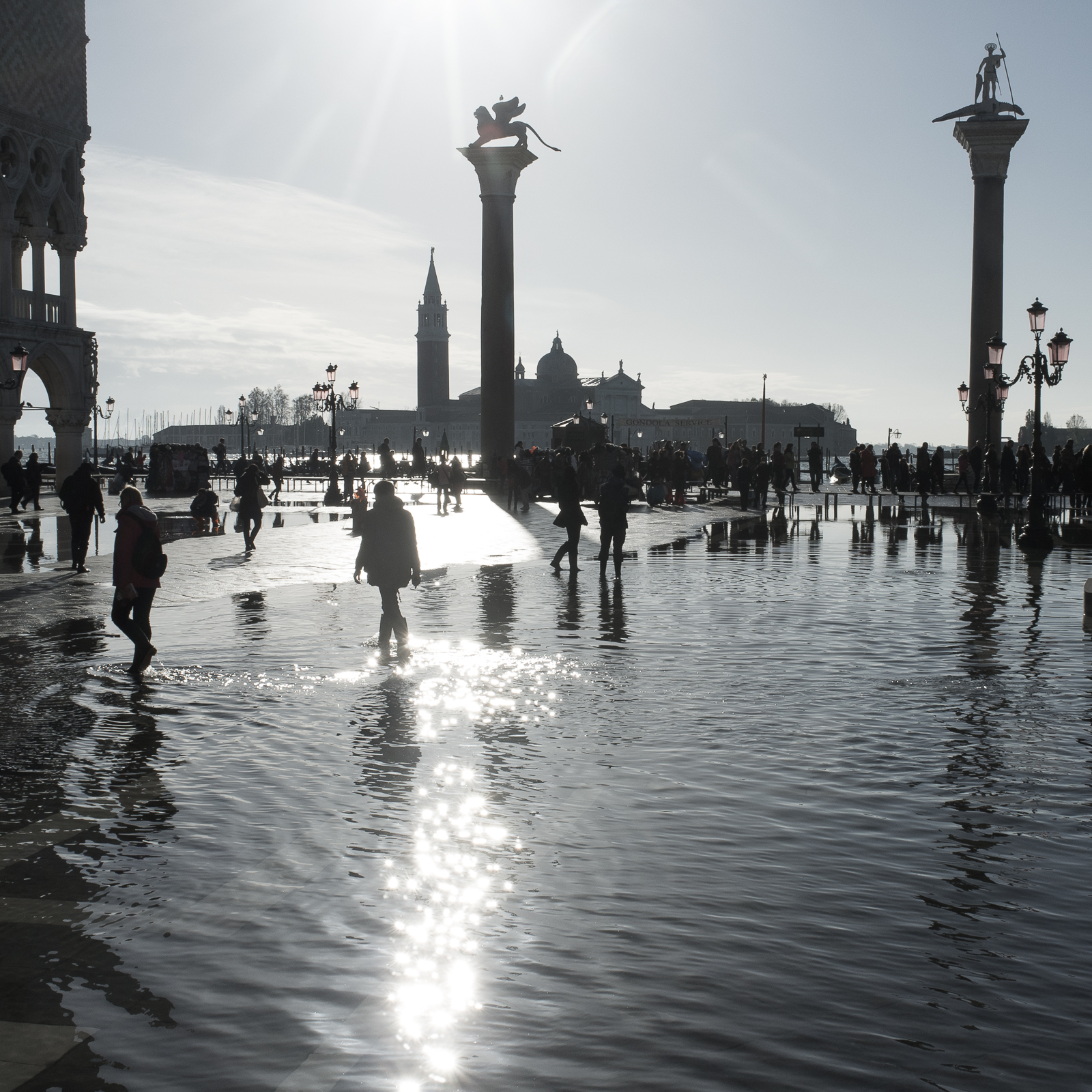 Aqua Alta on Piazza San Marco