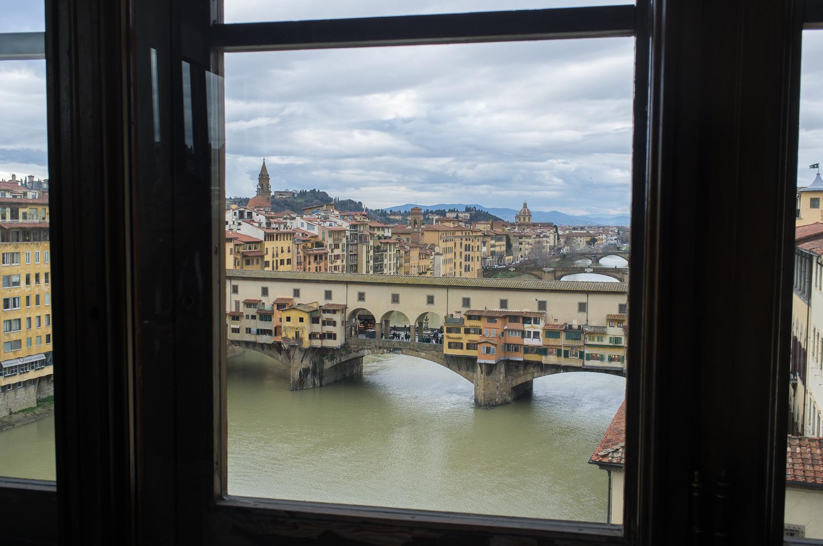 Ponte Vecchio seen from Galleria degli Uffizi