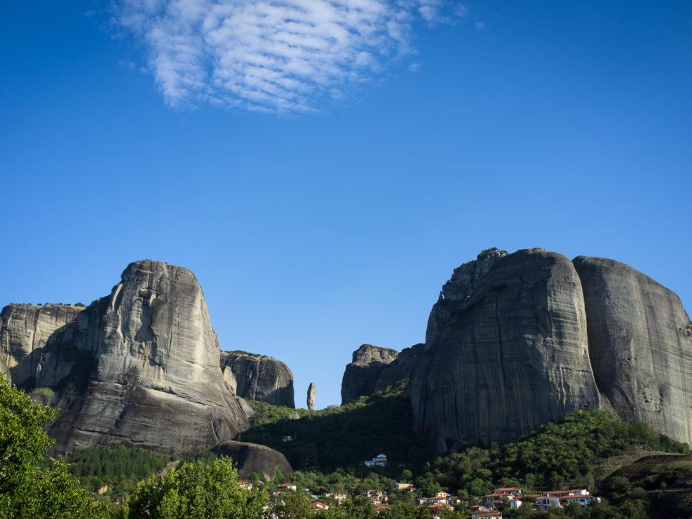 The Adrachti Rock seen from Kastraki