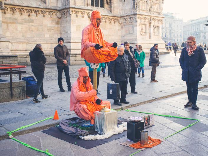 Meditating in Milan