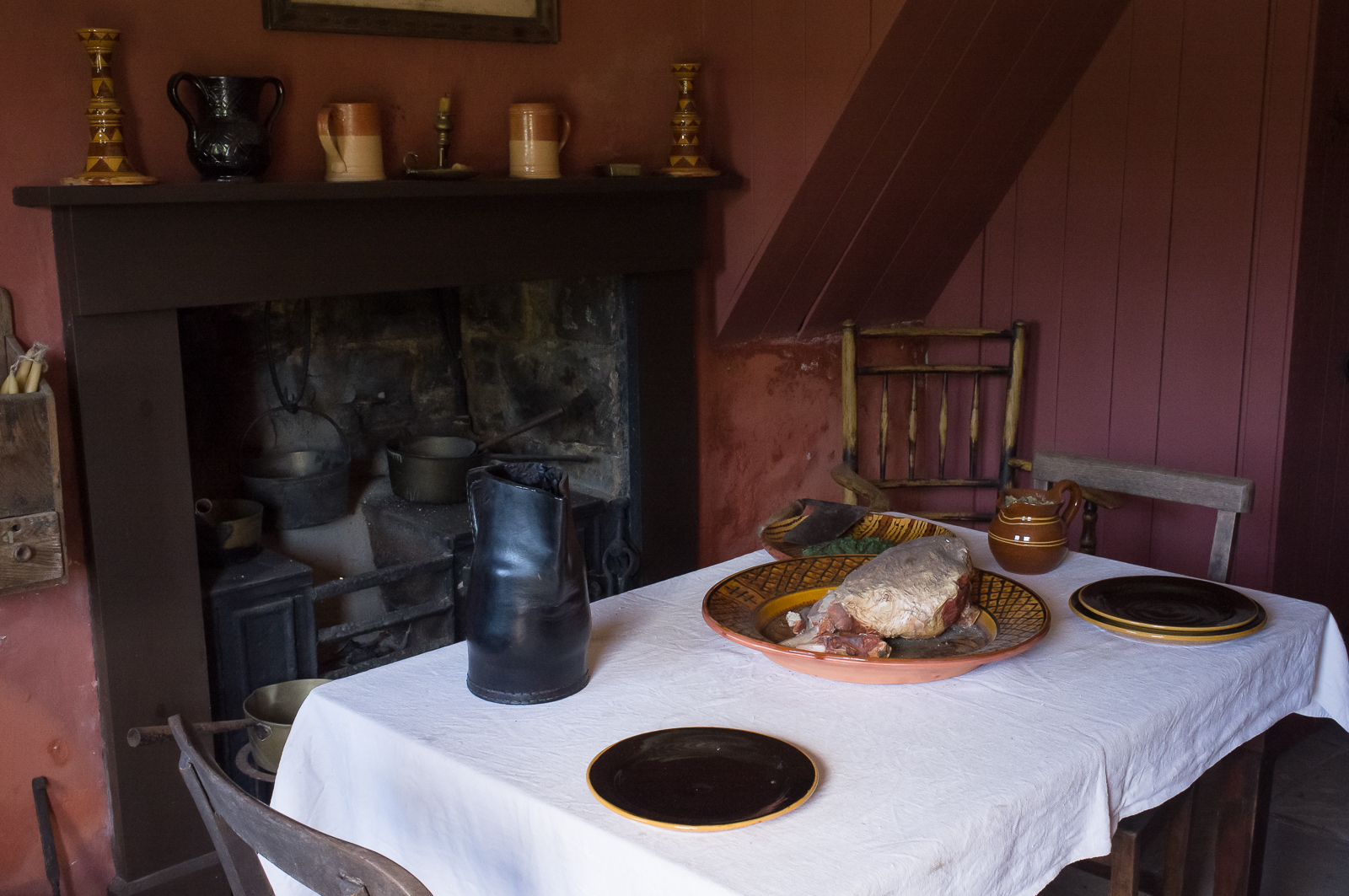 Replica of cottage interior (apartment) from 1790, Blaenavon - Wales