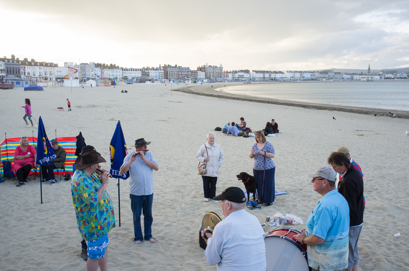 Weymouth on the beach