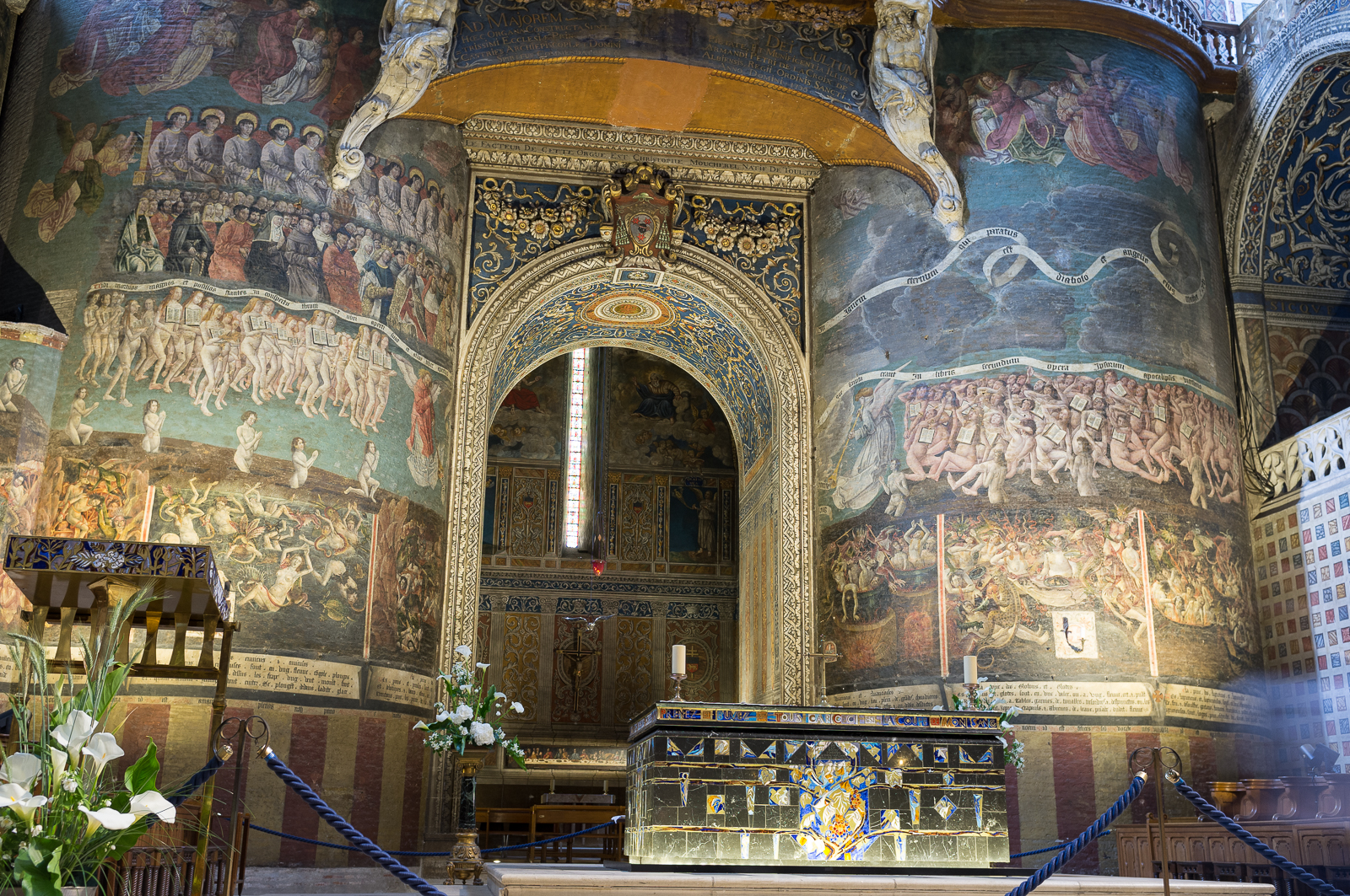 "Scenes from ""The Last Judgement"" (lower part) in Sainte-Cécile Cathedral in Albi - France"