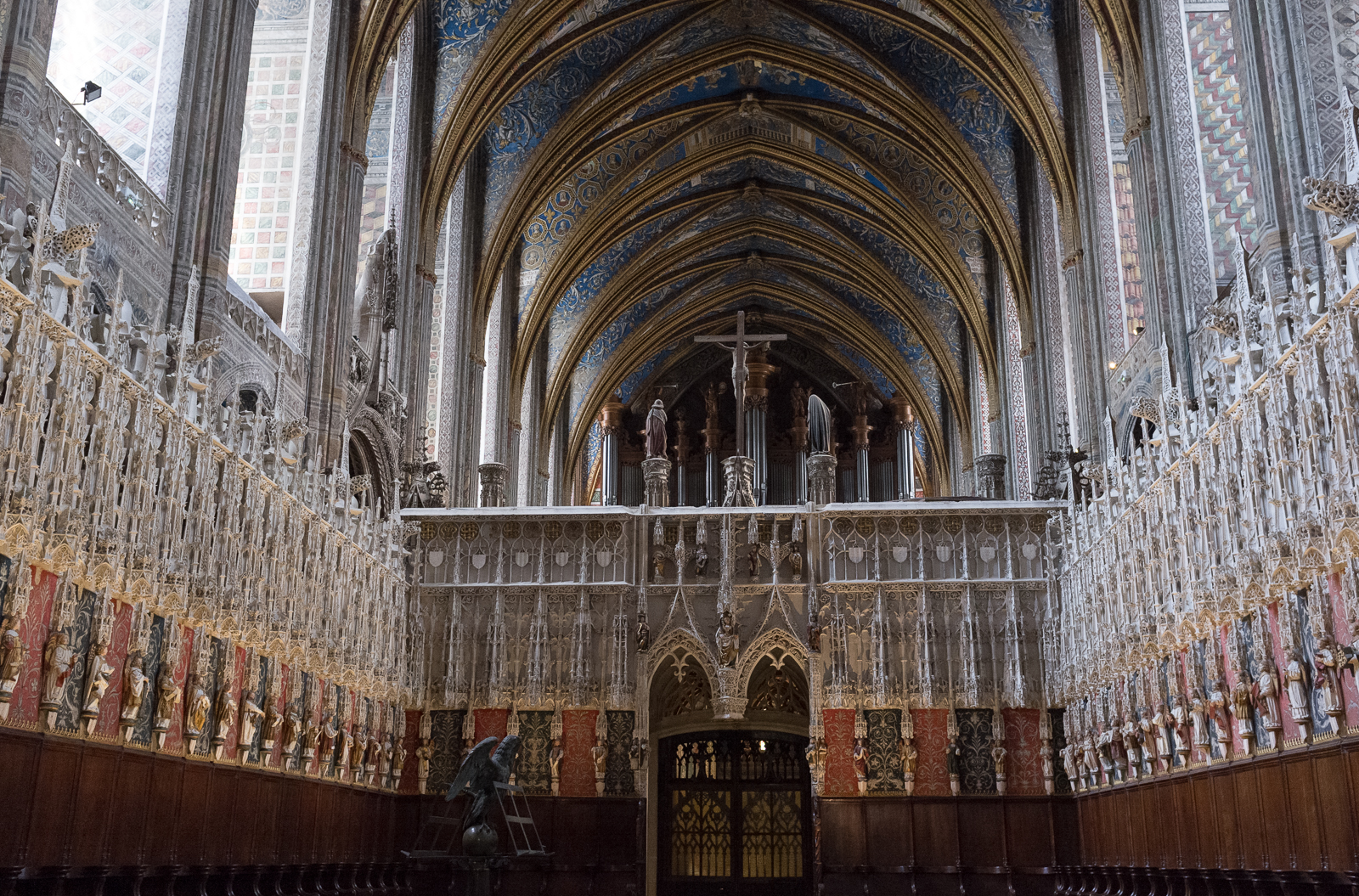 The choir screen in Sainte-Cécile Cathedral in Albi, France
