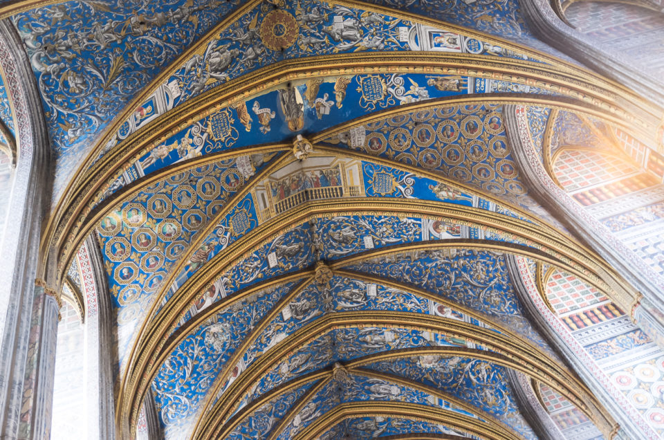 The vault, decorated by Italian painters, Sainte-Cécile Cathedral in Albi - France