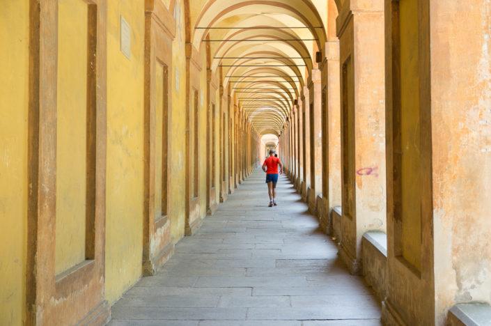 Under the San Luca porticos, Bologna
