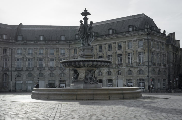 Place de la Bourse and the Fountain of the Three Graces