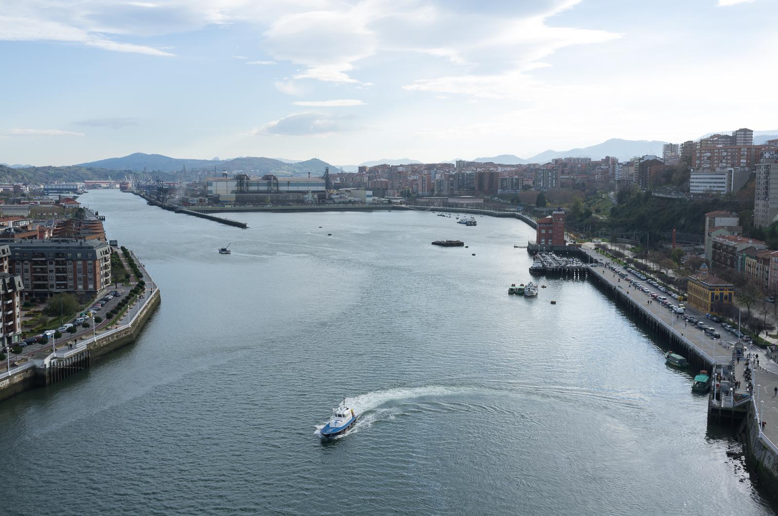 The Vizcaya Transporter Bridge, Biscaya, Bilbao, Spain