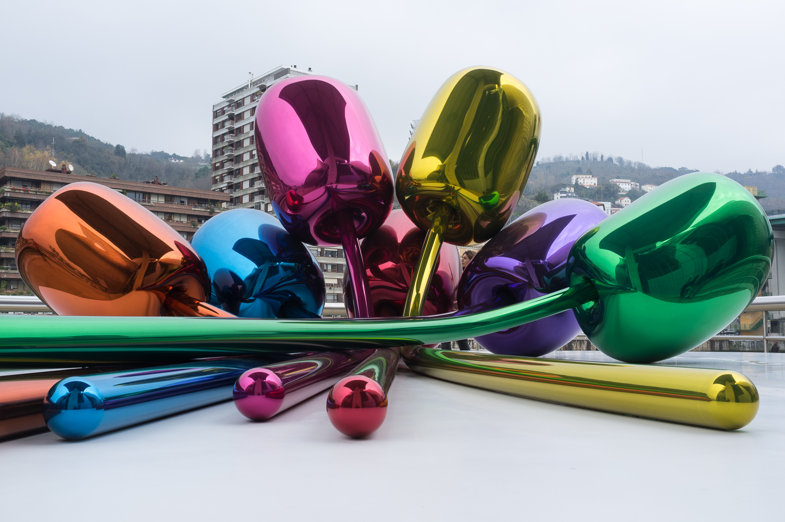 Jeff Koons' metallic tulips