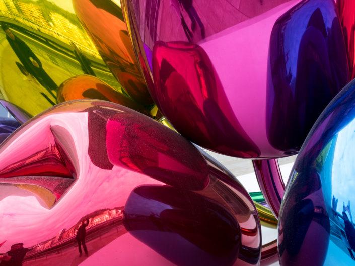 Jeff Koons' metallic tulips
