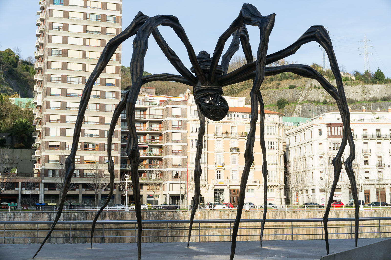 The giant spider Maman, almost nine meters tall, by Louise Bourgeois, Guggenheim Bilbao