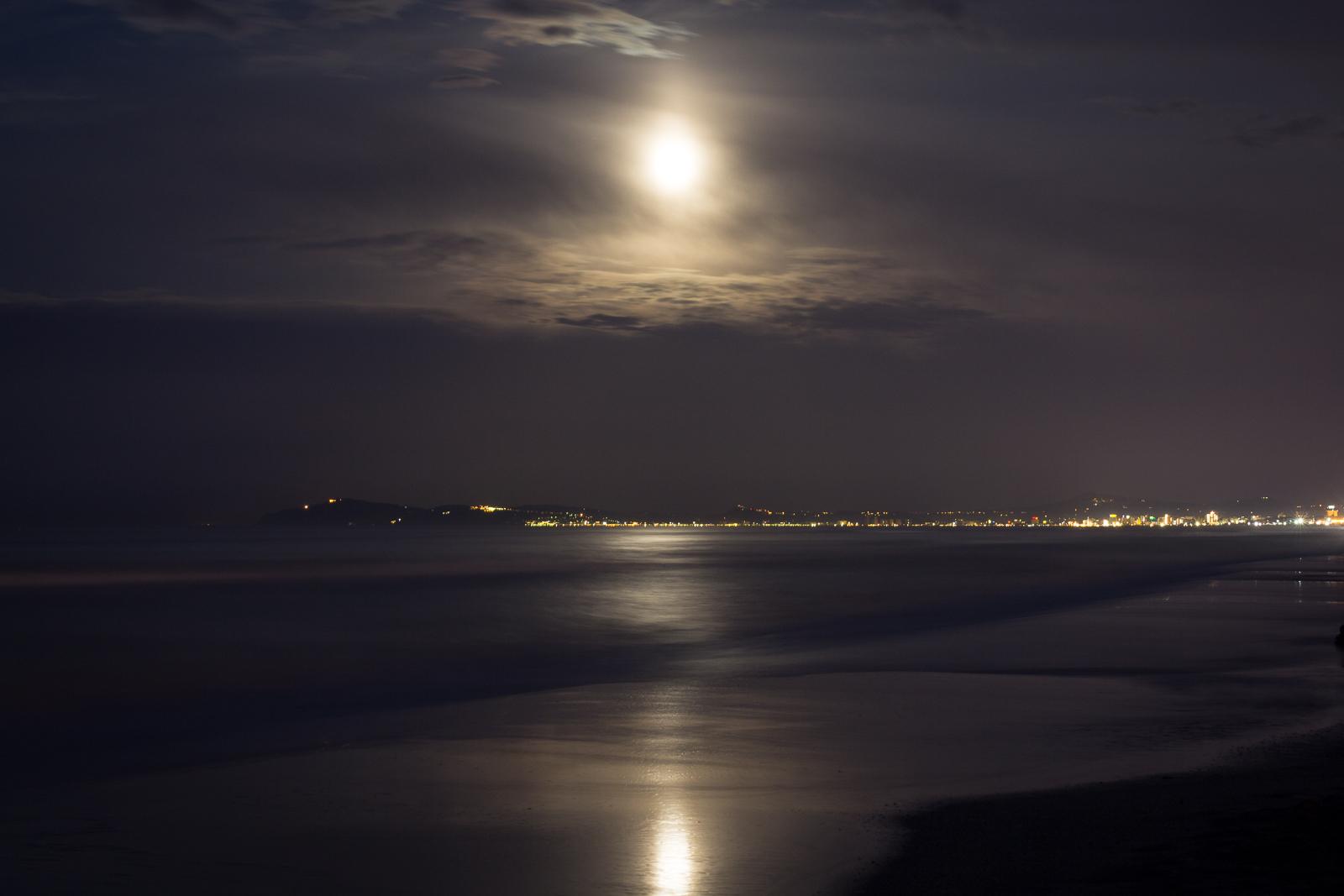 The moon over Riccione