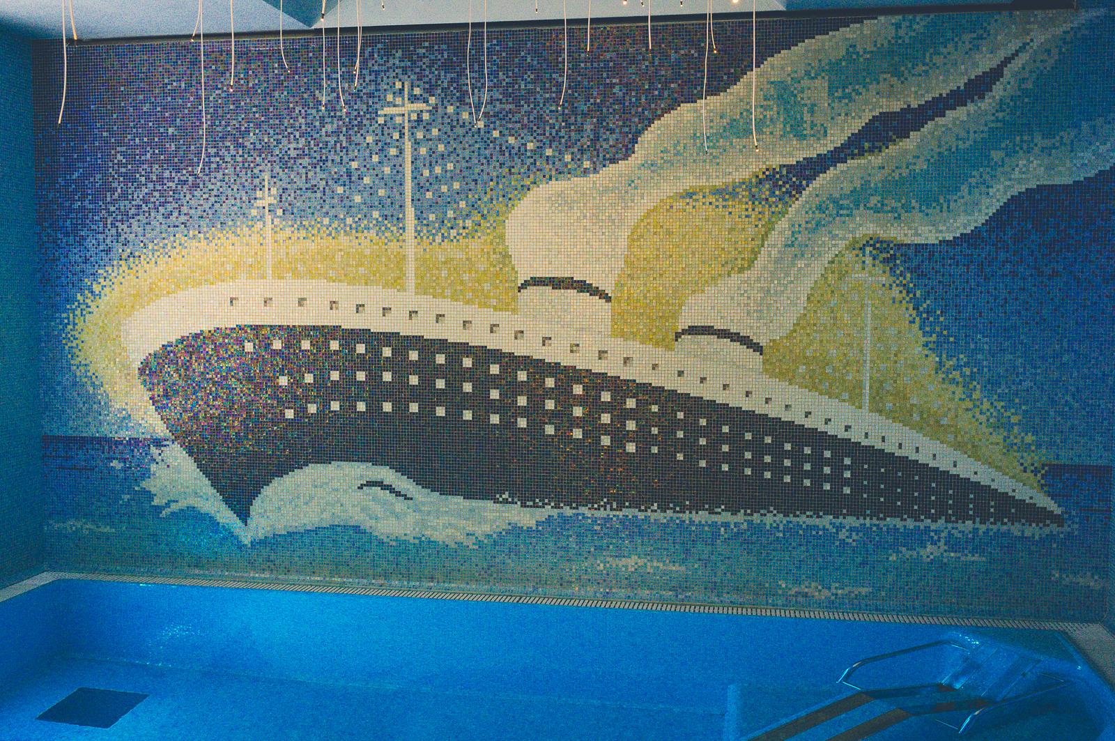 Mosaic in the spa (Grand Hotel Rimini)