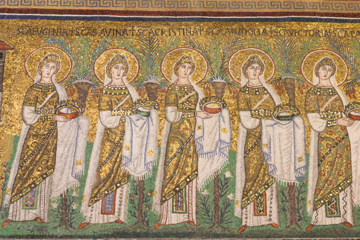 Mosaic art in the basilicas of Ravenna Italy