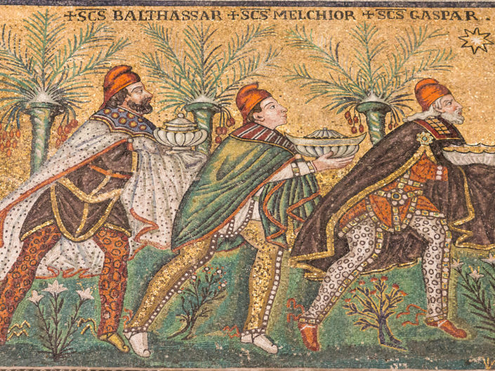 Balthassar, Melchior and Gaspar (west wall)