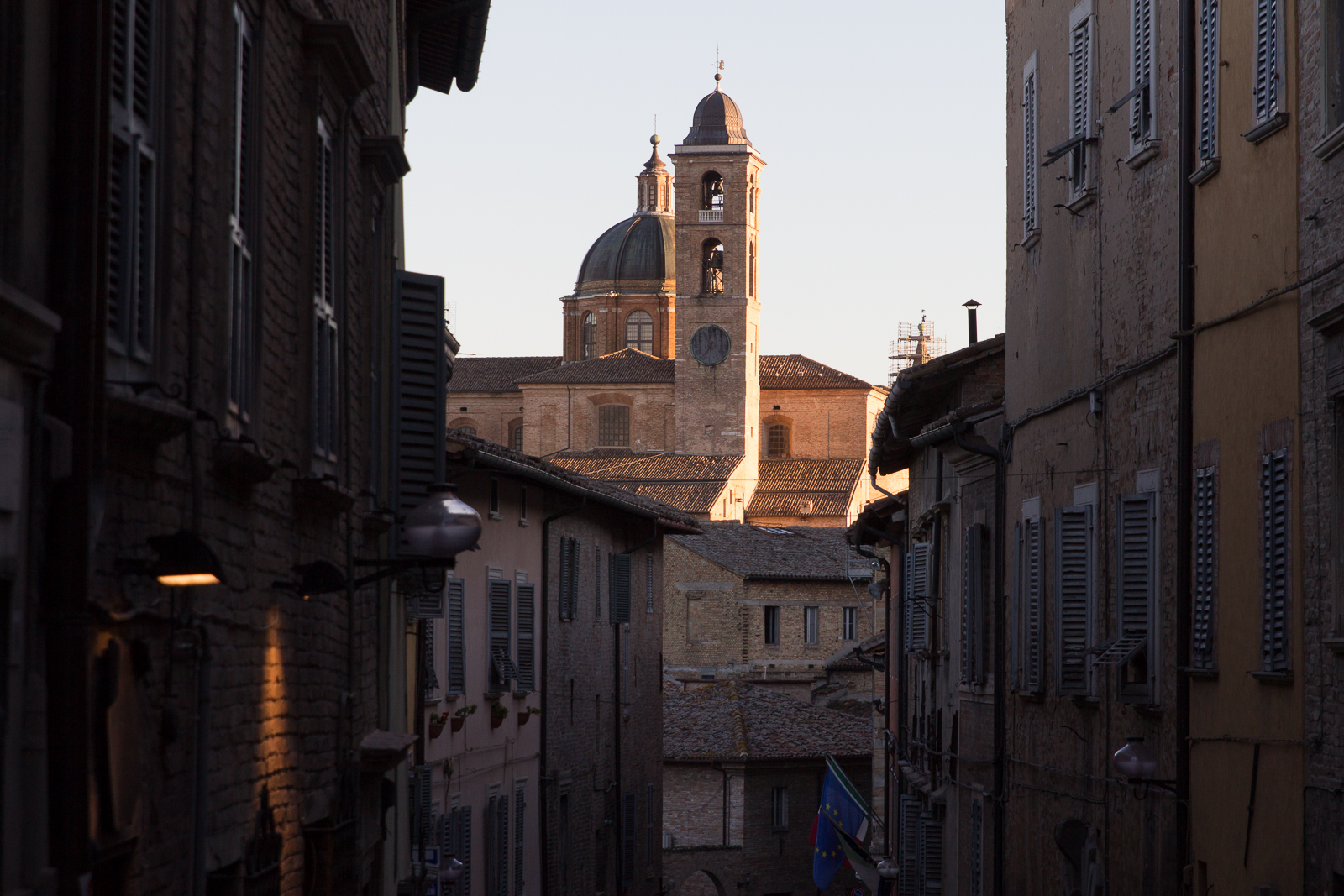 Urbino in the evening