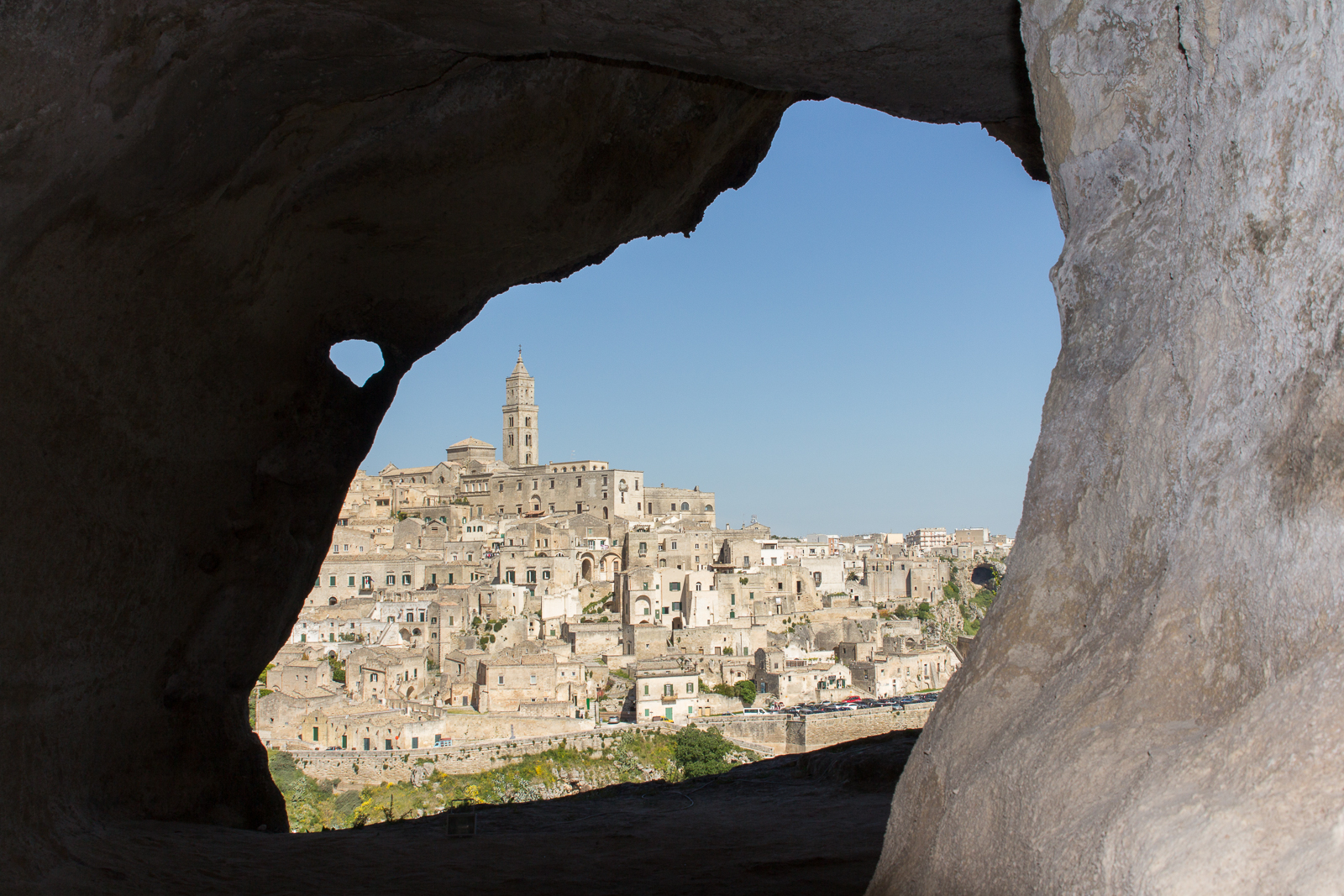 The prehistoric caves of Matera