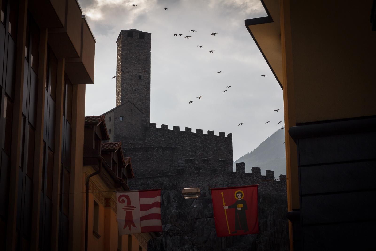 Castelgrande as seen from downtown