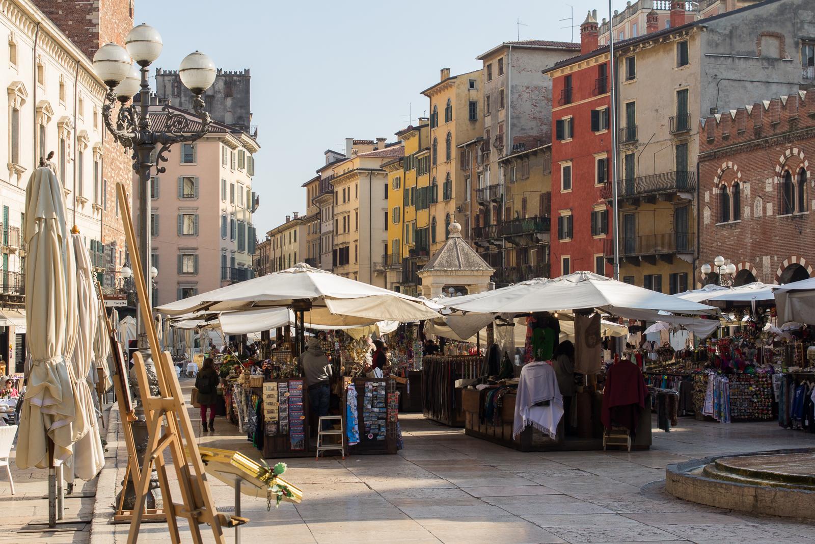 Market on Piazza delle Erbe
