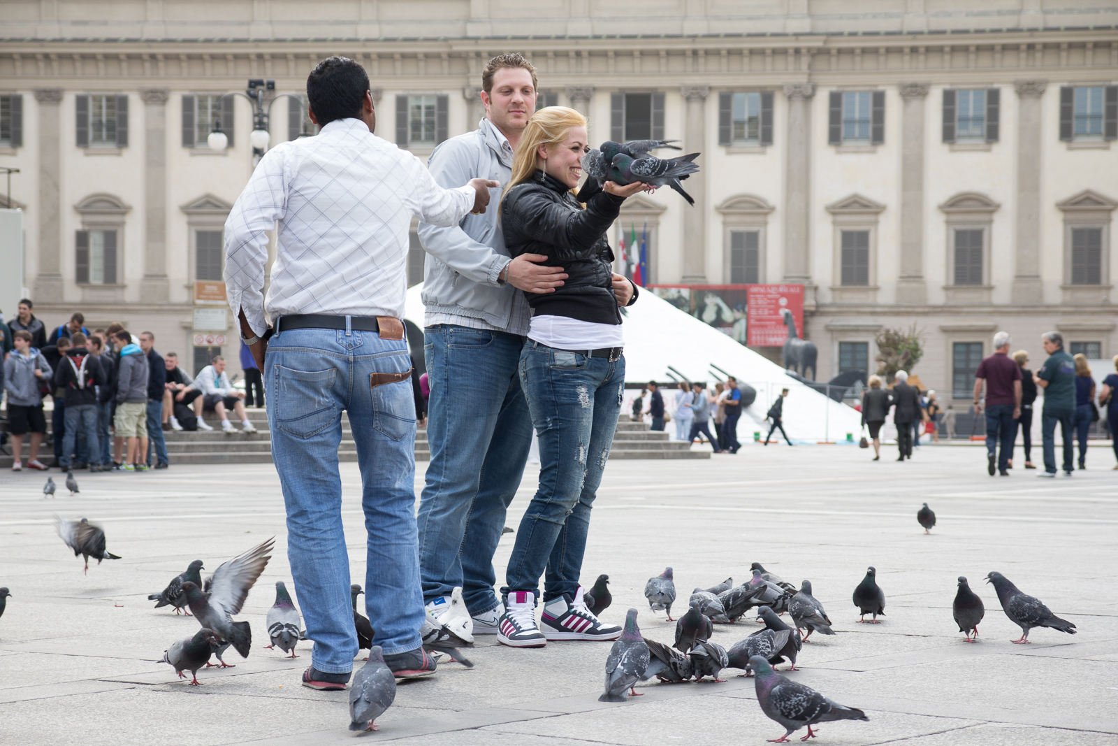 The usual suspects (feeding the pigeons)
