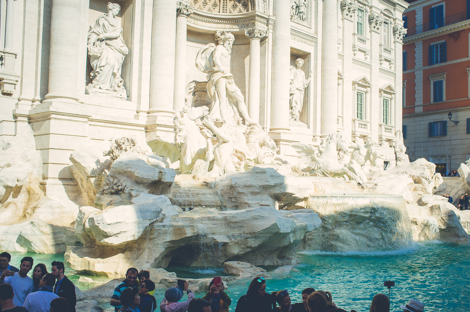 By the Trevi Fountain