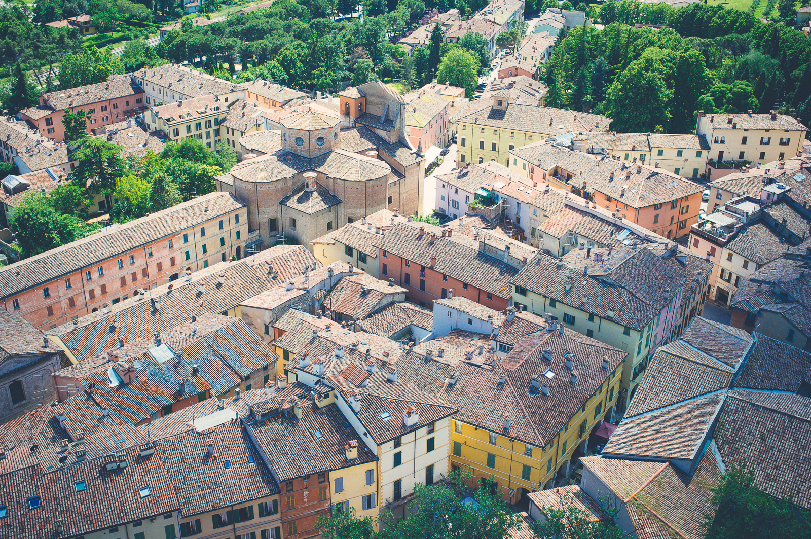 Brisighella as seen from the clock tower