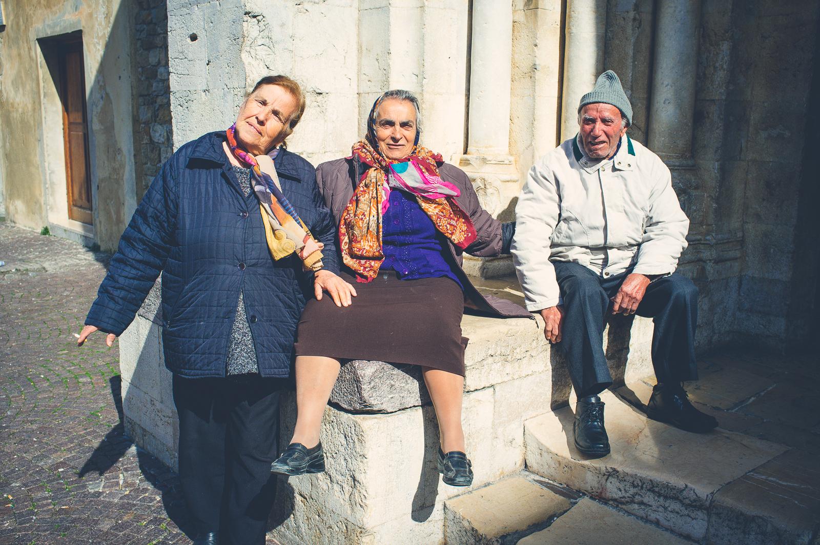 Friends in Ventimiglia Alta
