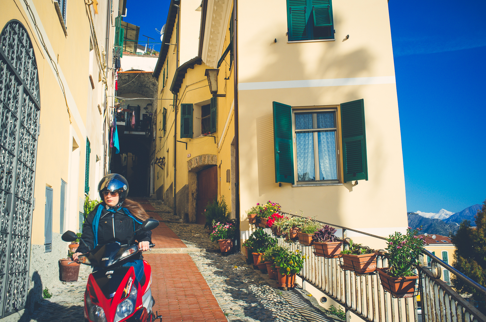 On the way down from Ventimiglia Alta