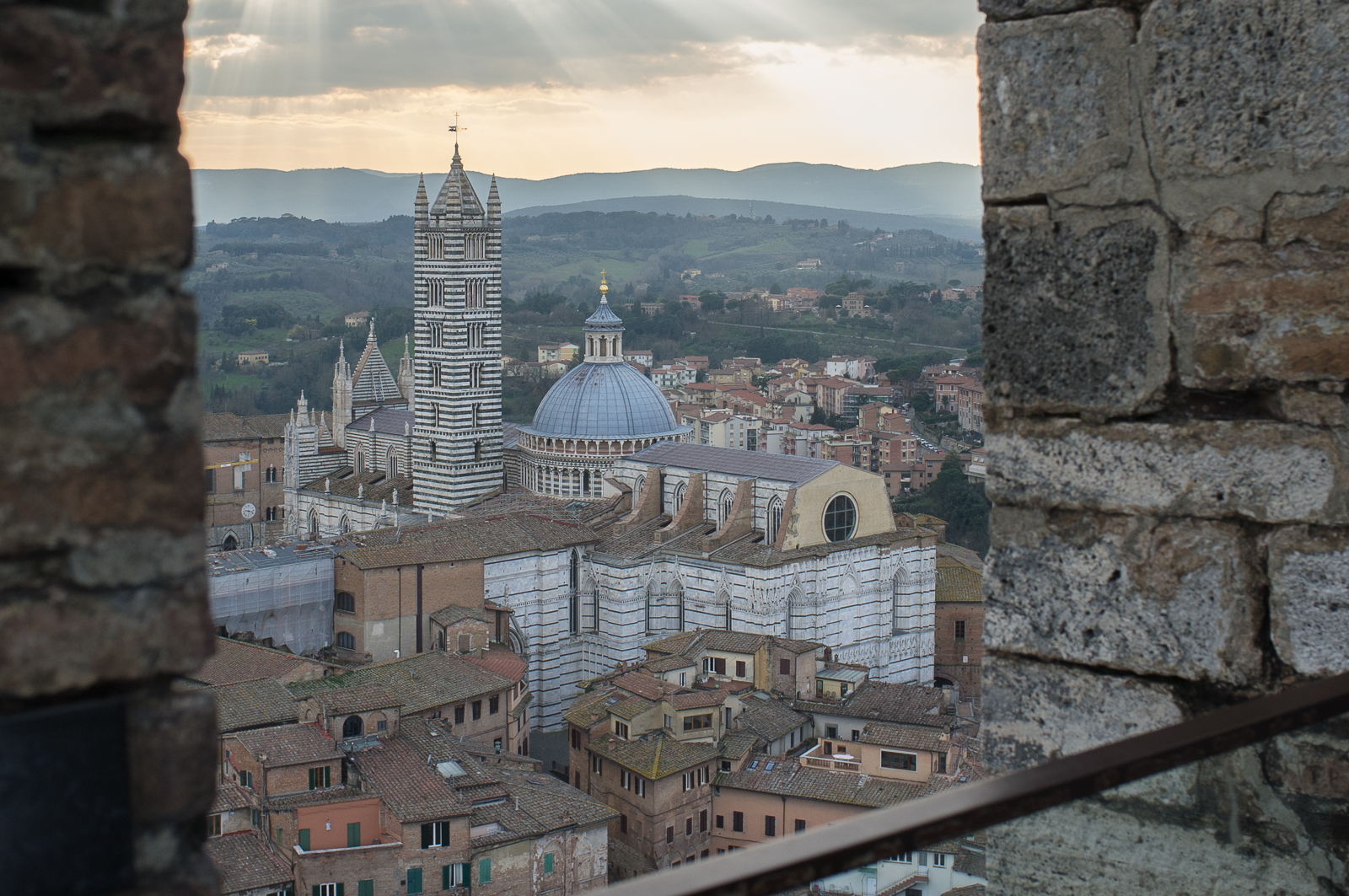 The view from Torre del Mangia
